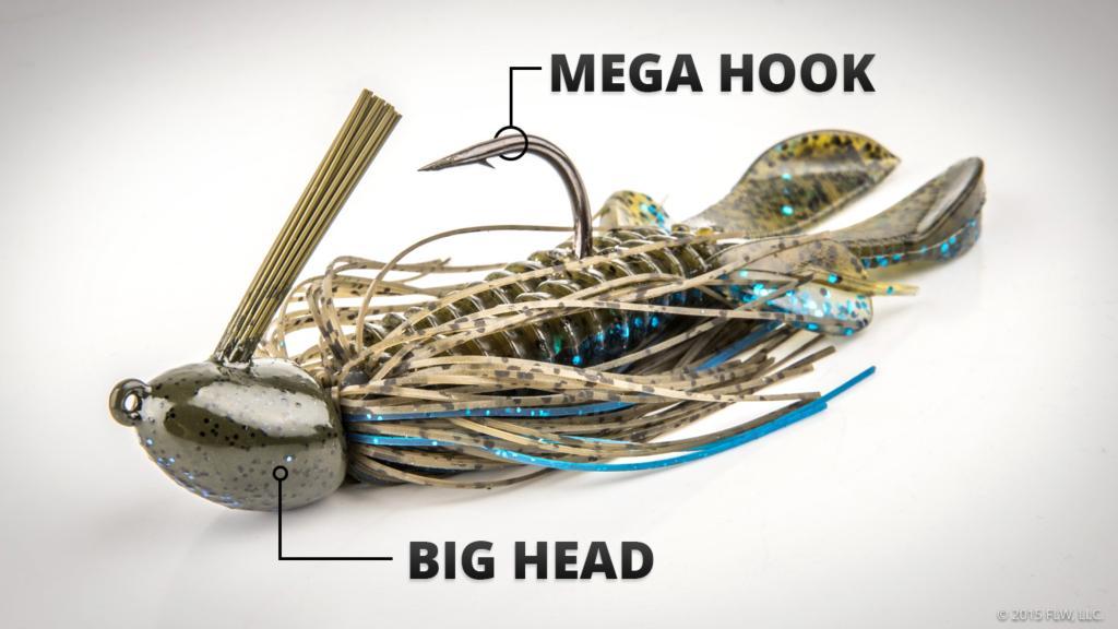 Best bass jigs best bass fishing lures for Best jig for bass fishing
